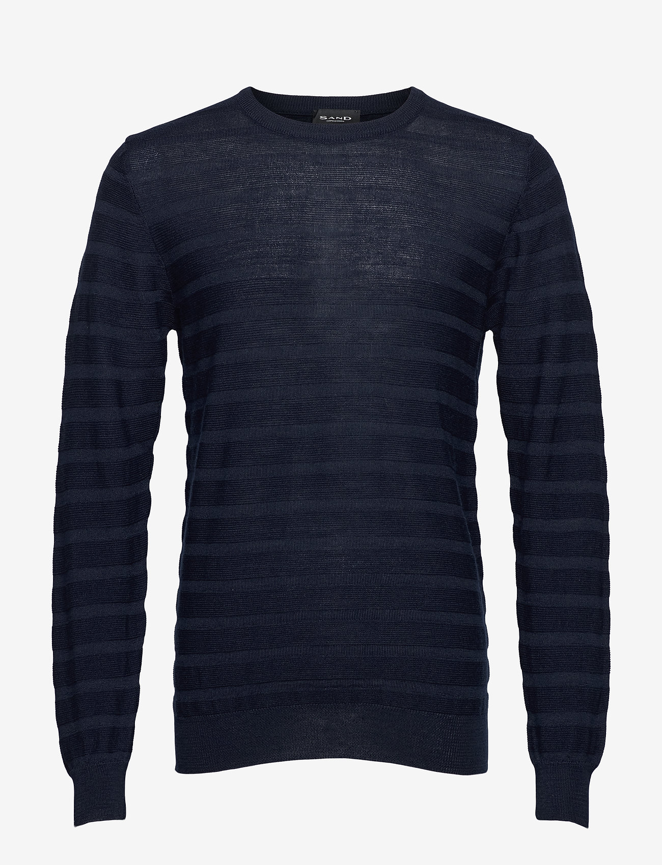 SAND - Merino Stripe - Iq - basic strik - dark blue/navy - 0