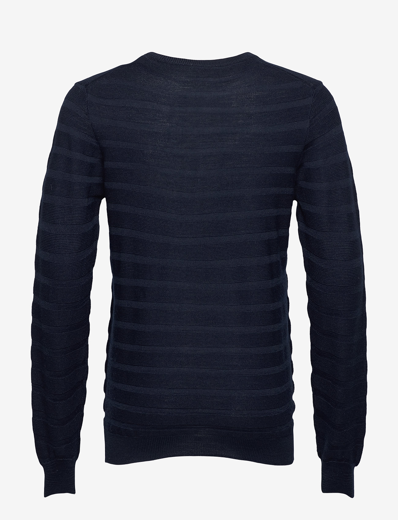 SAND - Merino Stripe - Iq - basic strik - dark blue/navy - 1