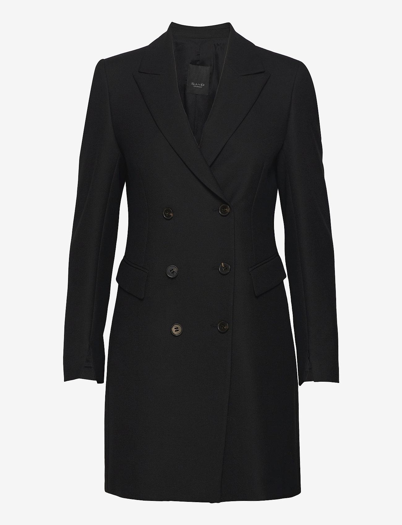 SAND - 3596 - Keiko Dress - dunne jassen - black - 0