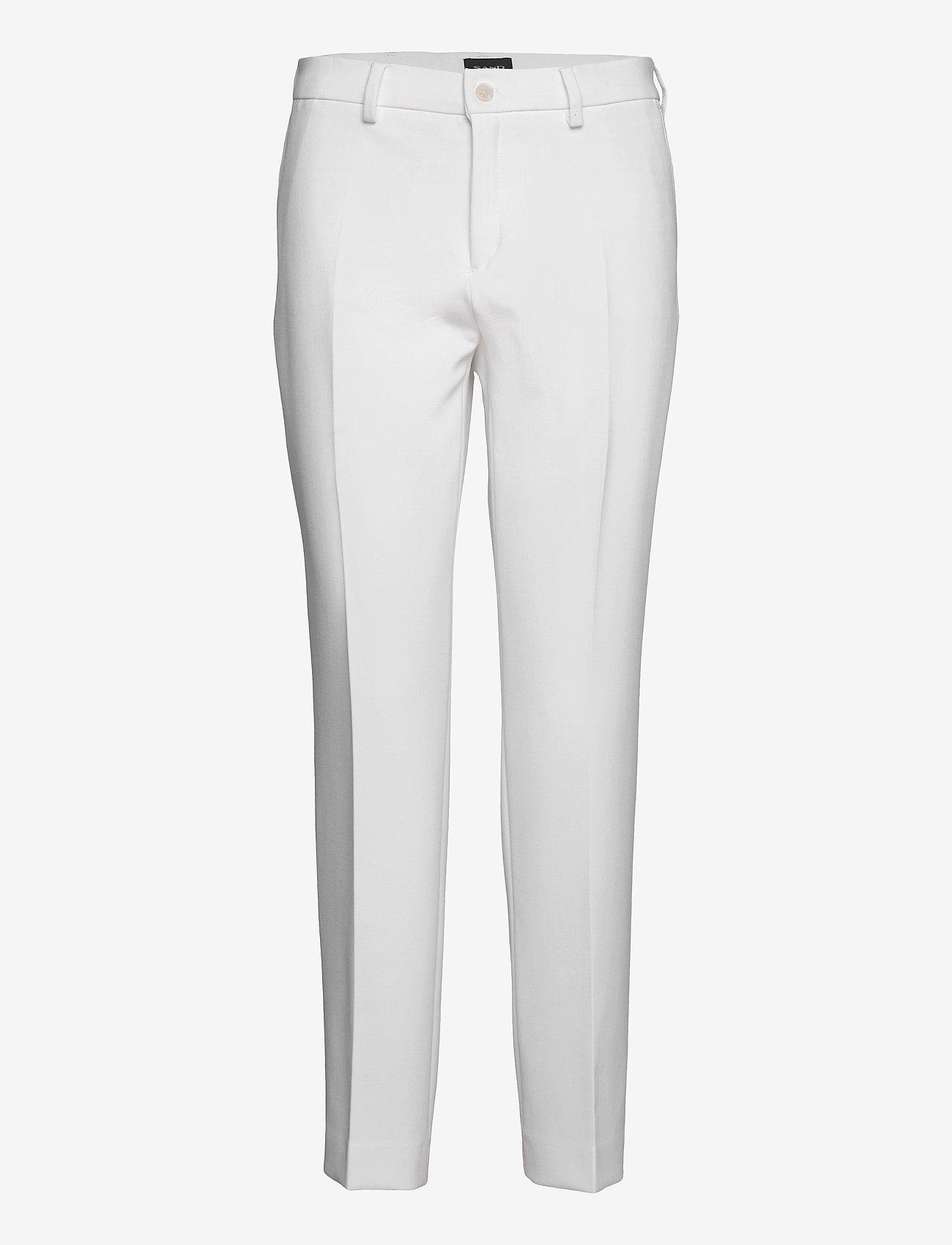 SAND - 3596 - Dori A - broeken med straight ben - optical white - 0