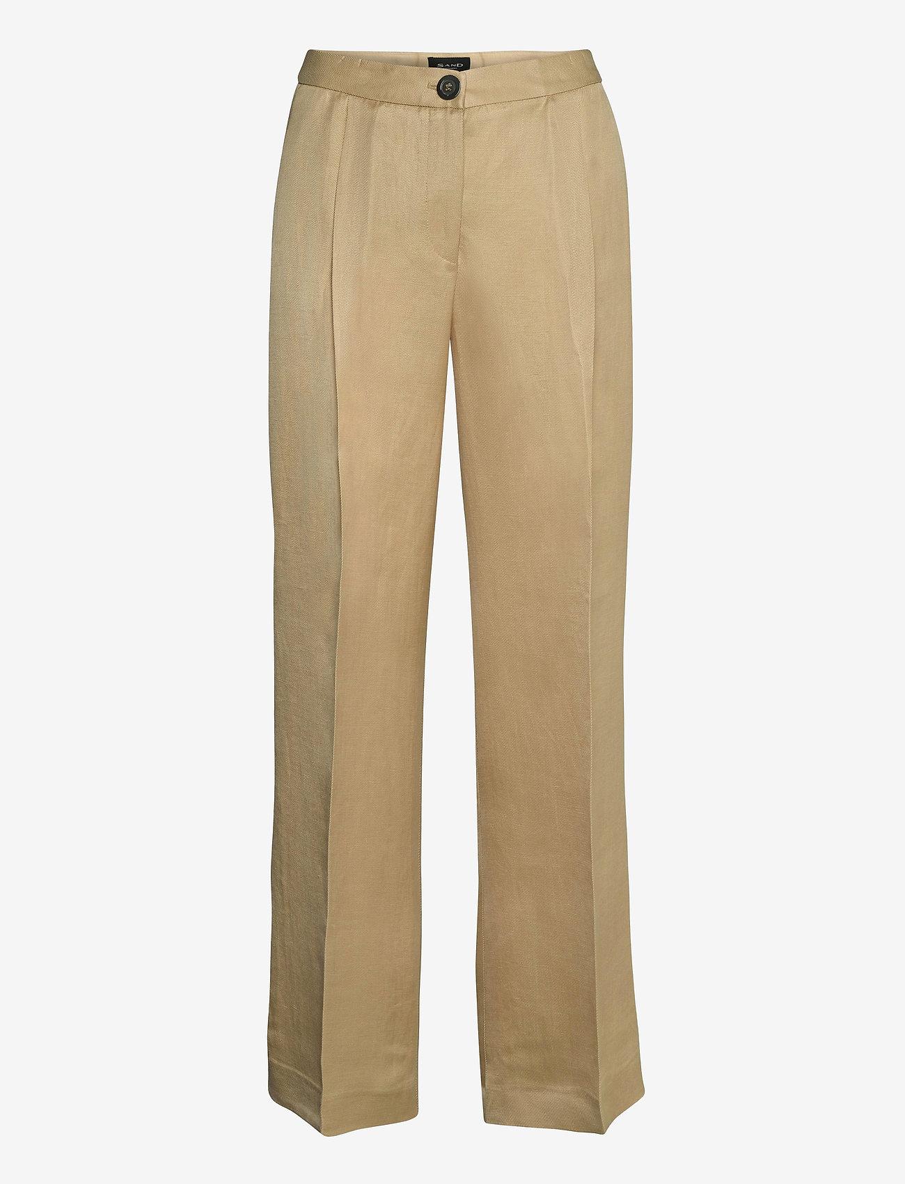 SAND - Twill Lux - Miriam - broeken med straight ben - light camel - 0