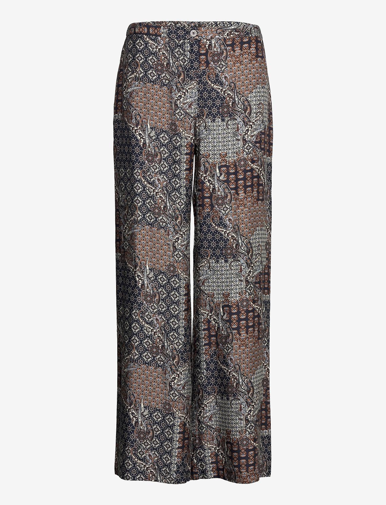 SAND - 3424 - Sasha Flex - uitlopende broeken - pattern - 0