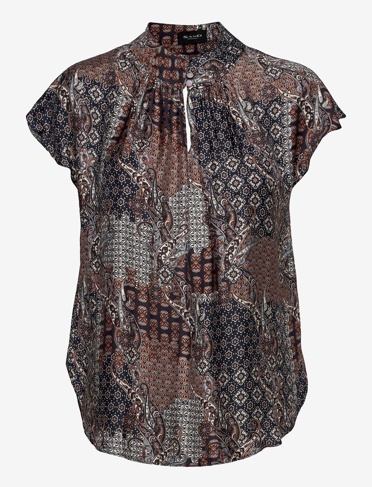 SAND - 3424 - Prosi Top - blouses met korte mouwen - pattern - 0