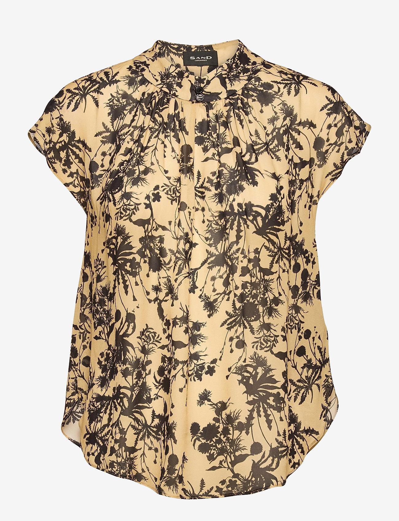 SAND - 3430 - Prosi Top S - blouses met korte mouwen - pale yellow - 0