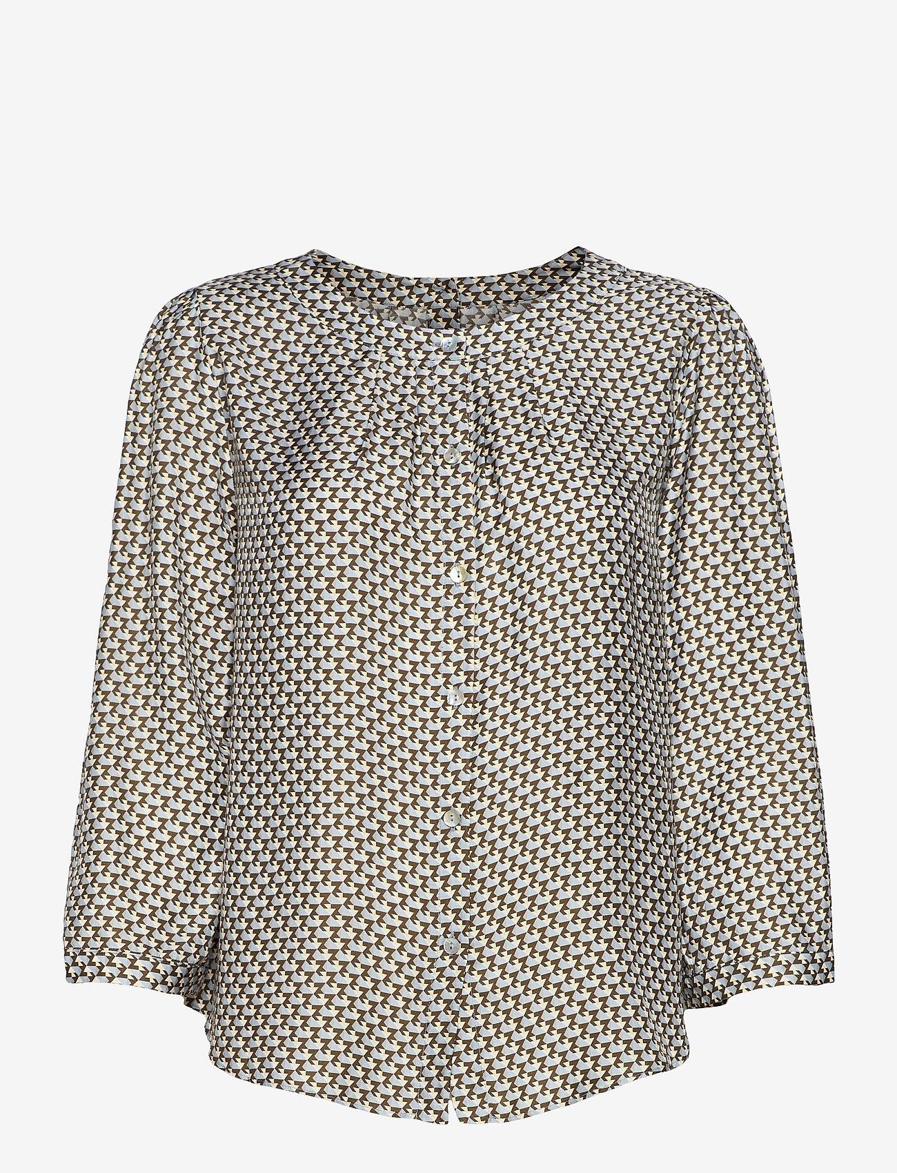 SAND - 3437 - Bala Puff - blouses met lange mouwen - blue - 0
