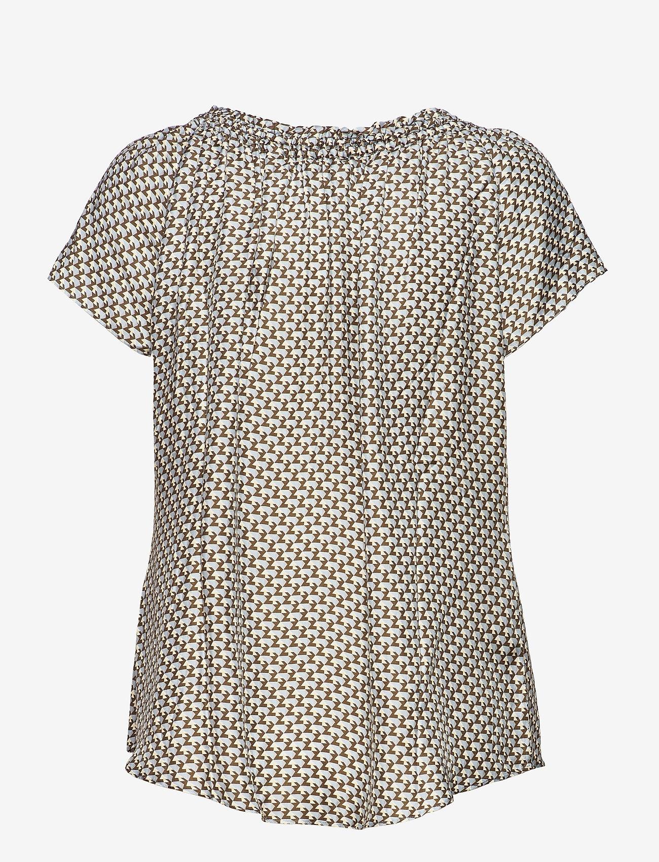 SAND - 3437 - Astride Top - blouses met korte mouwen - blue - 1