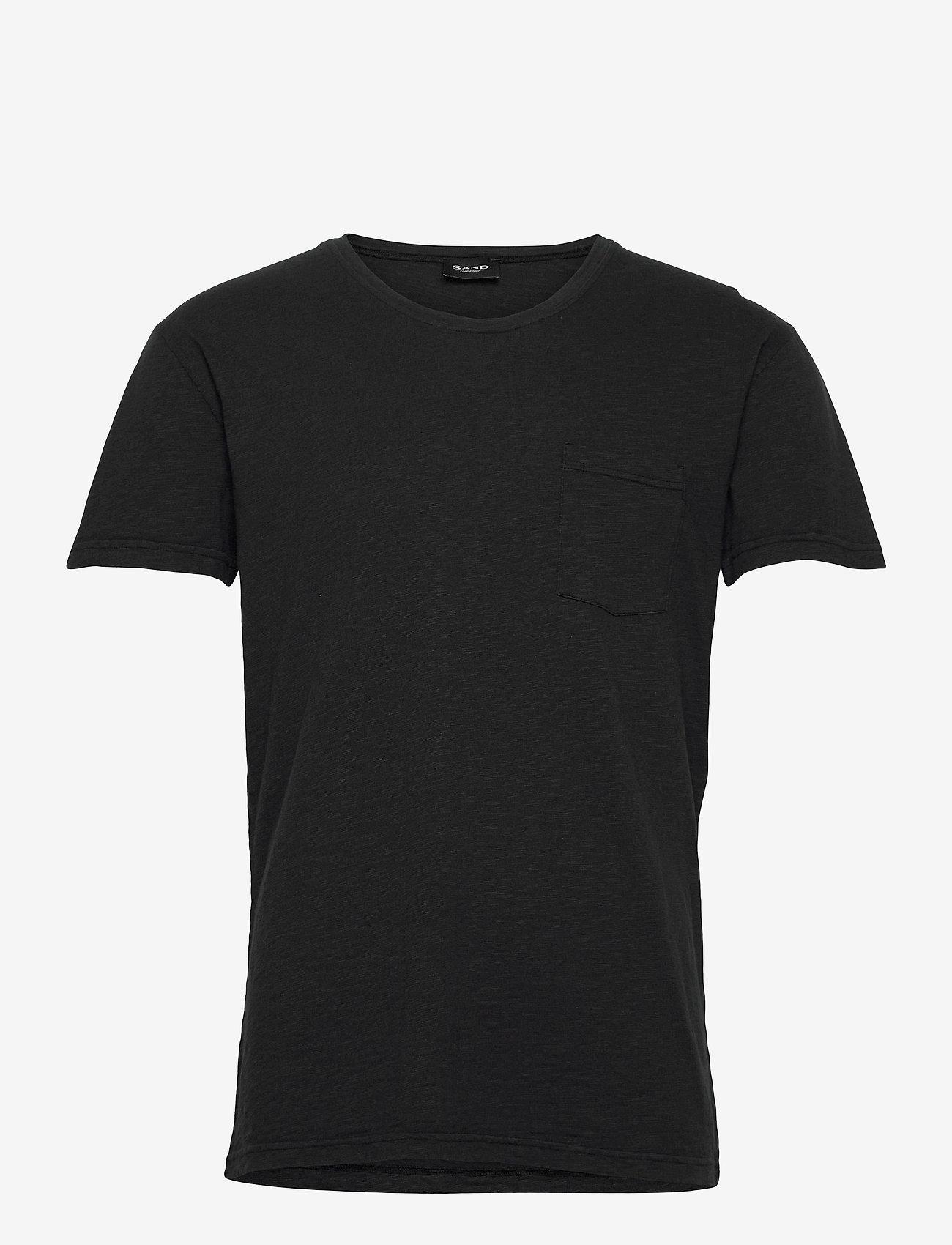 SAND - 4829 - Brady - basic t-shirts - black - 0