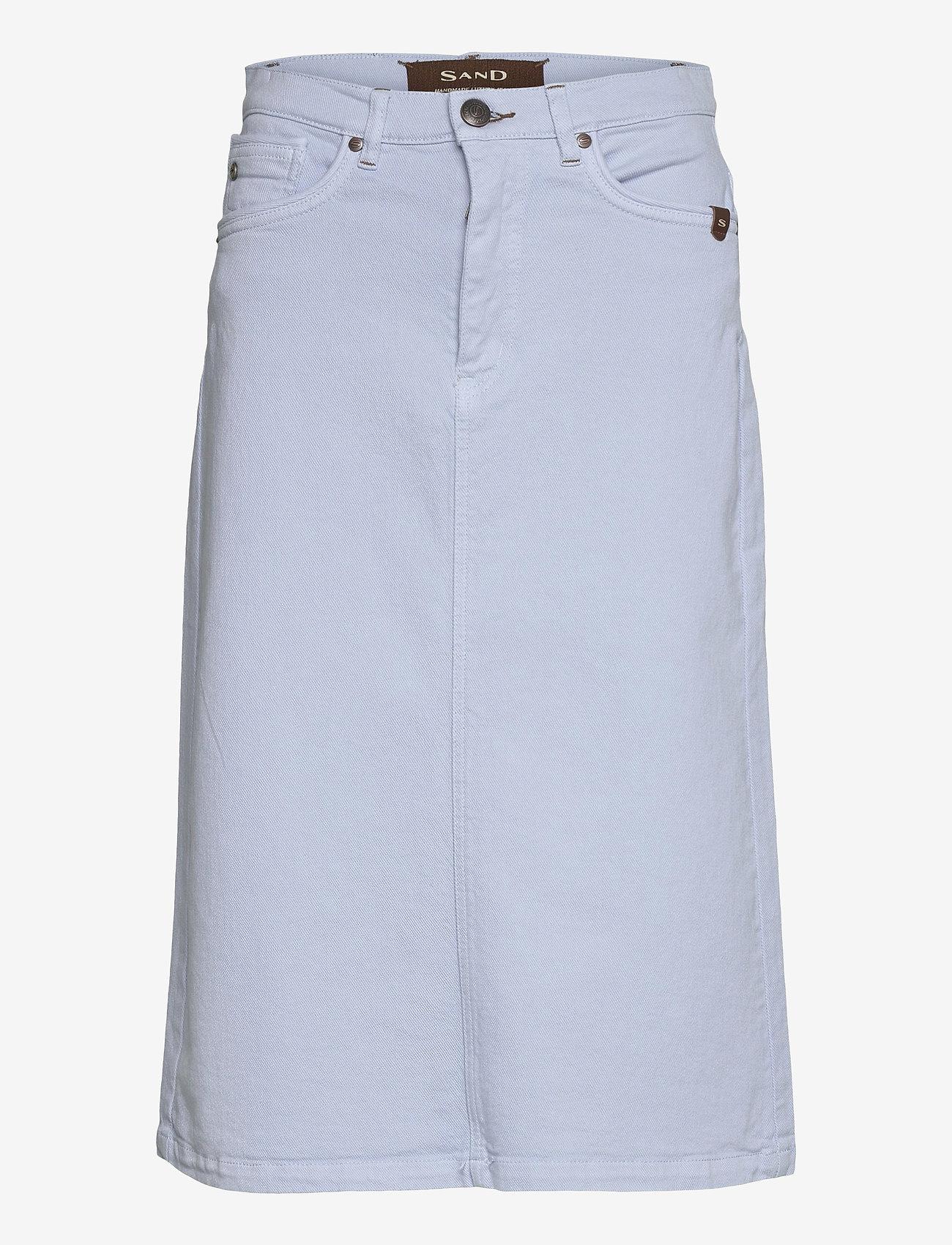 SAND - 0639 - Kathy Skirt - midi kjolar - light blue - 0