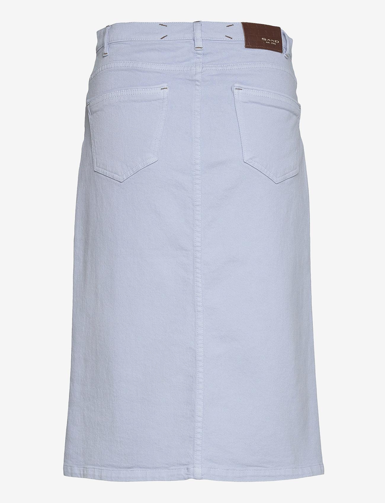 SAND - 0639 - Kathy Skirt - midi kjolar - light blue - 1