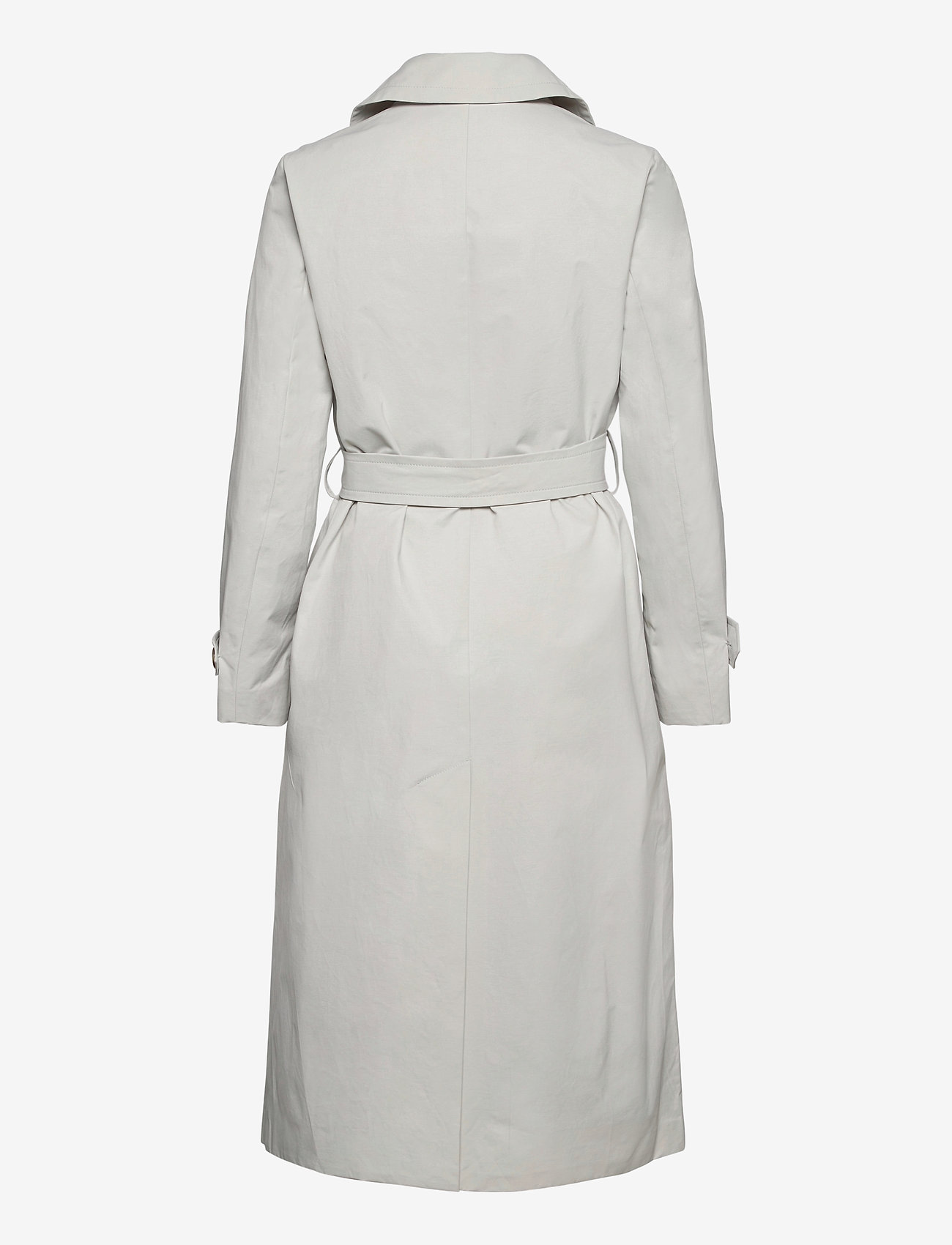 SAND - Techno Cotton W - Clareta Belt - trenchcoats - light pearl white - 1