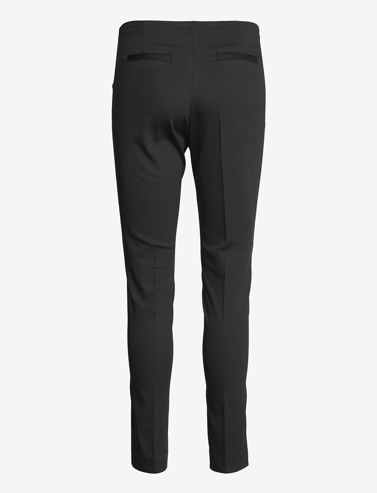 SAND - Suede Touch WF - Arella - slim fit broeken - black - 1