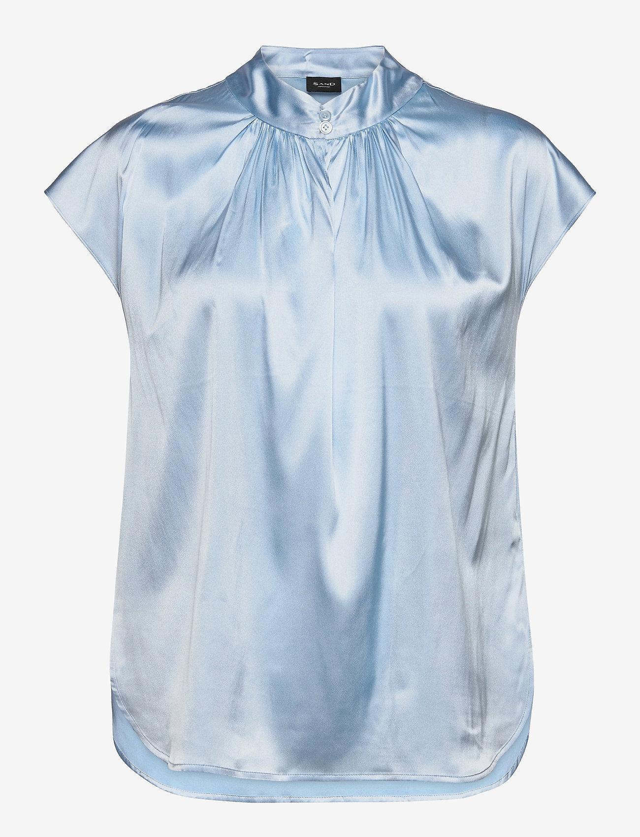 SAND - 3176 - Prosi Top S - blouses met korte mouwen - light blue - 0