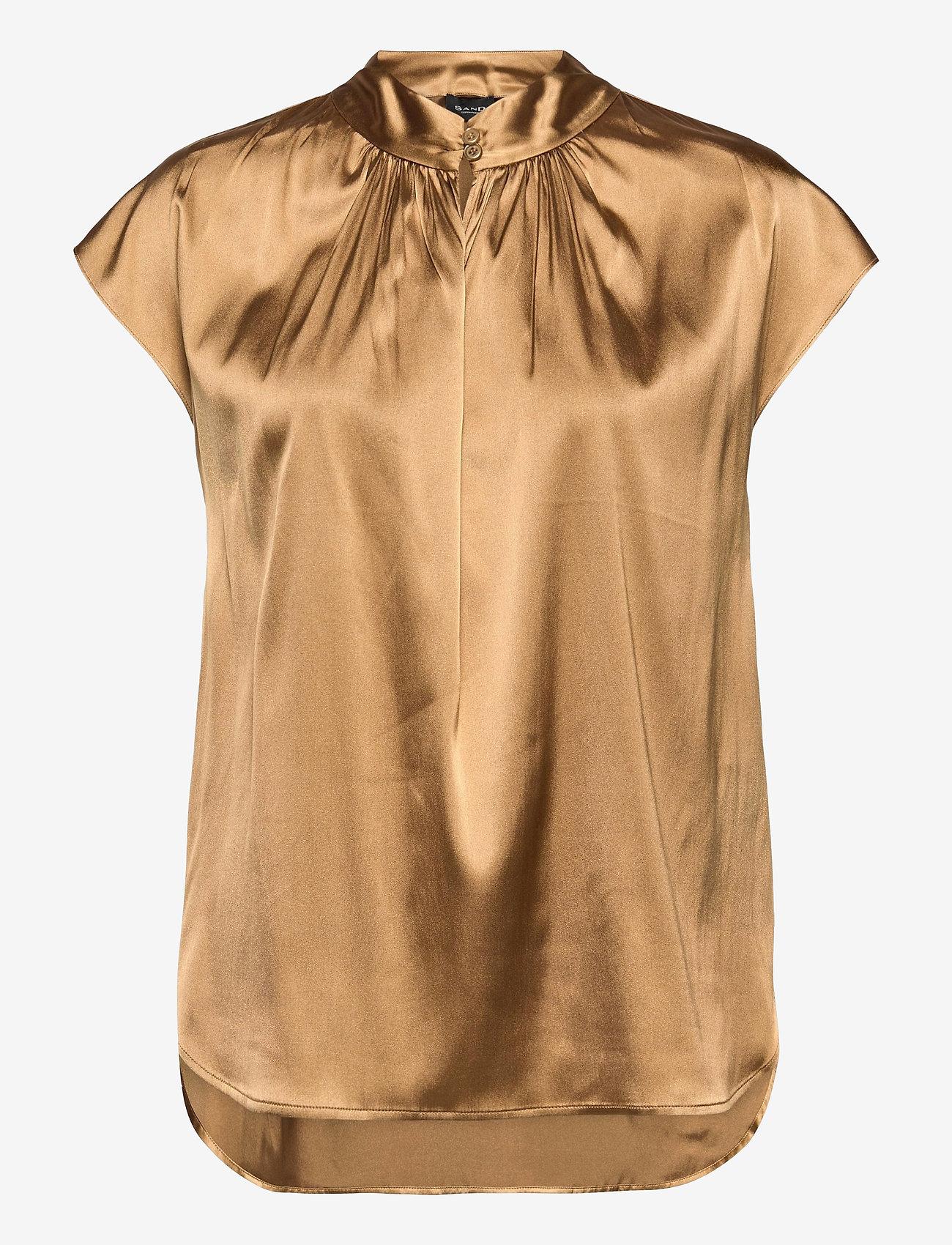 SAND - 3176 - Prosi Top S - blouses met korte mouwen - light camel - 0