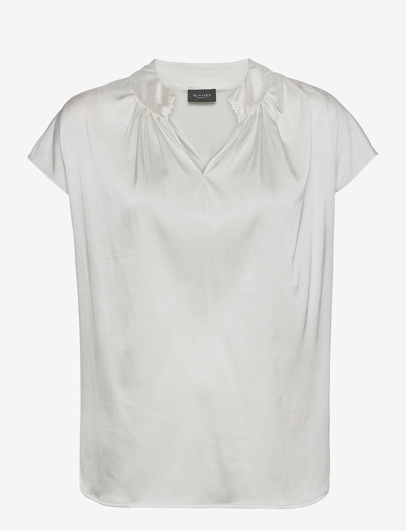 SAND - 3176 - Prosi Top S - blouses met korte mouwen - off white - 0