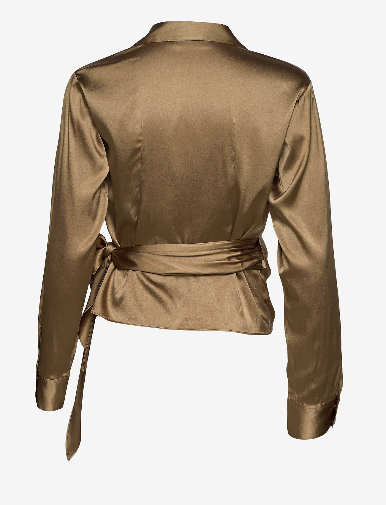 SAND - 3176 - Wrap - blouses met lange mouwen - light camel - 1
