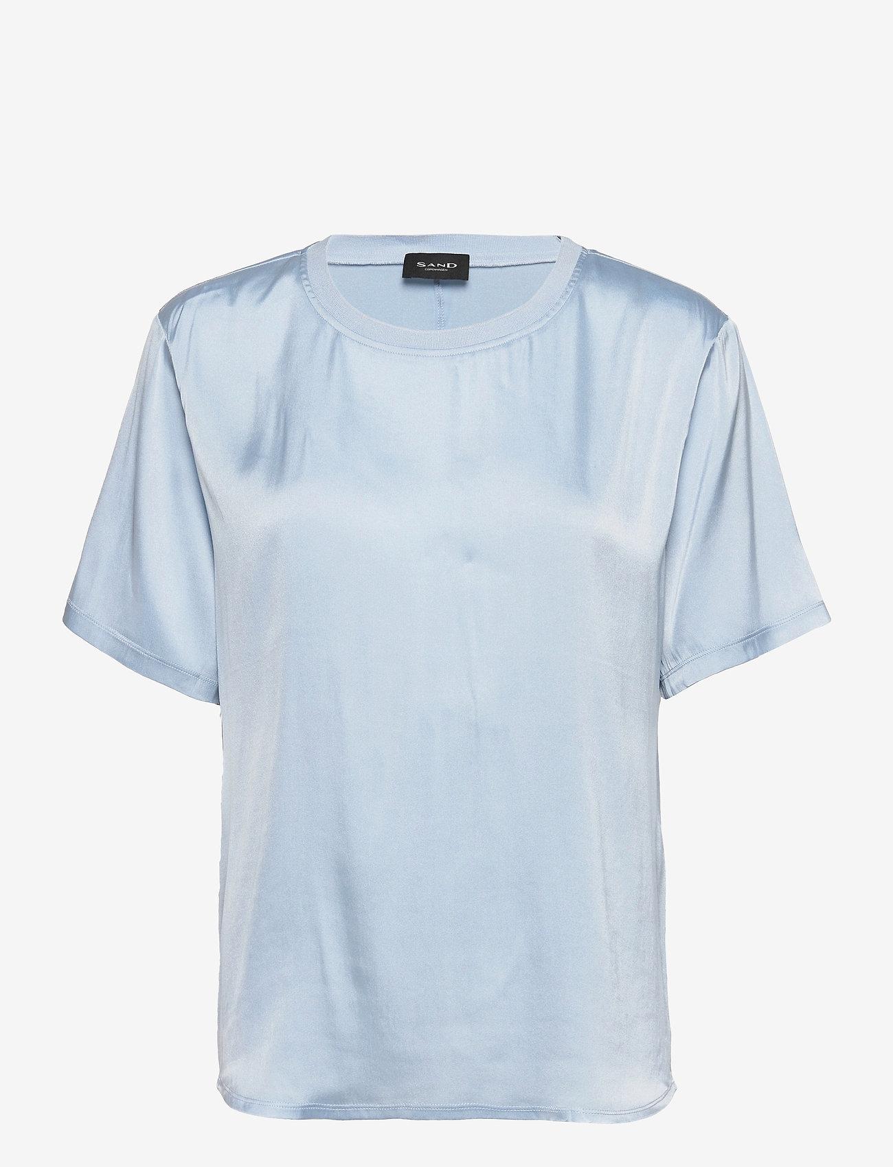 SAND - 3176 SW - Minerva - blouses met korte mouwen - light blue - 0