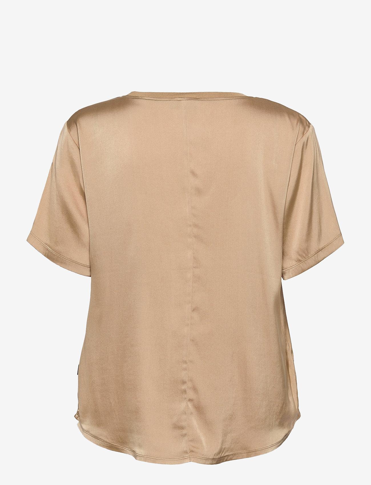 SAND - 3176 SW - Minerva - blouses met korte mouwen - light camel - 1