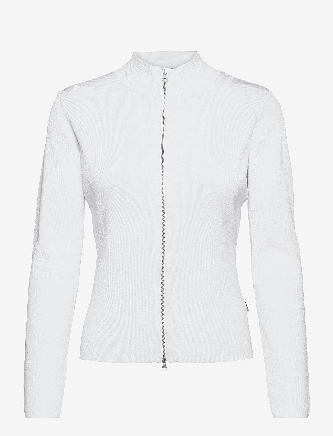SAND - 5181 - Della Zip - cardigans - white - 0