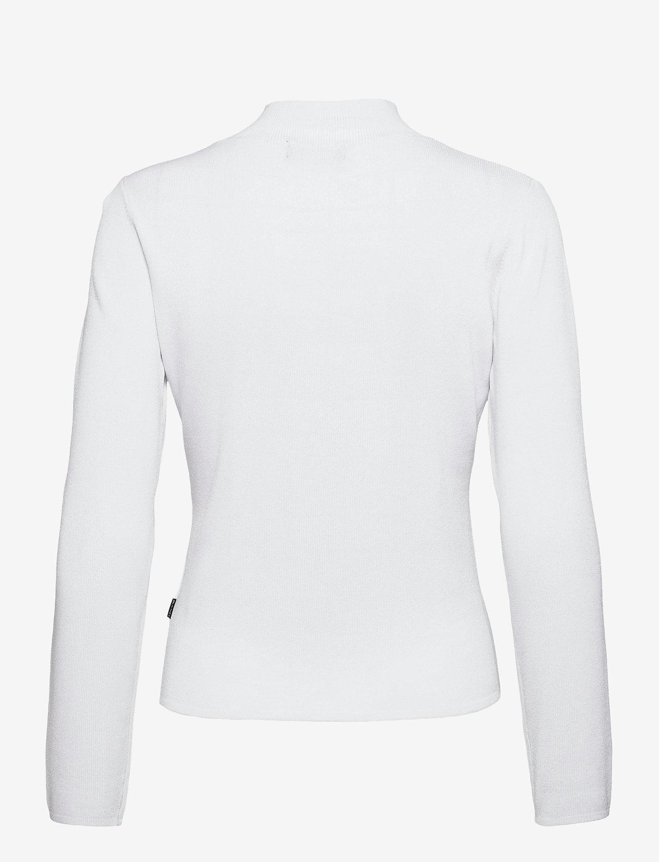 SAND - 5181 - Della Zip - cardigans - white - 1