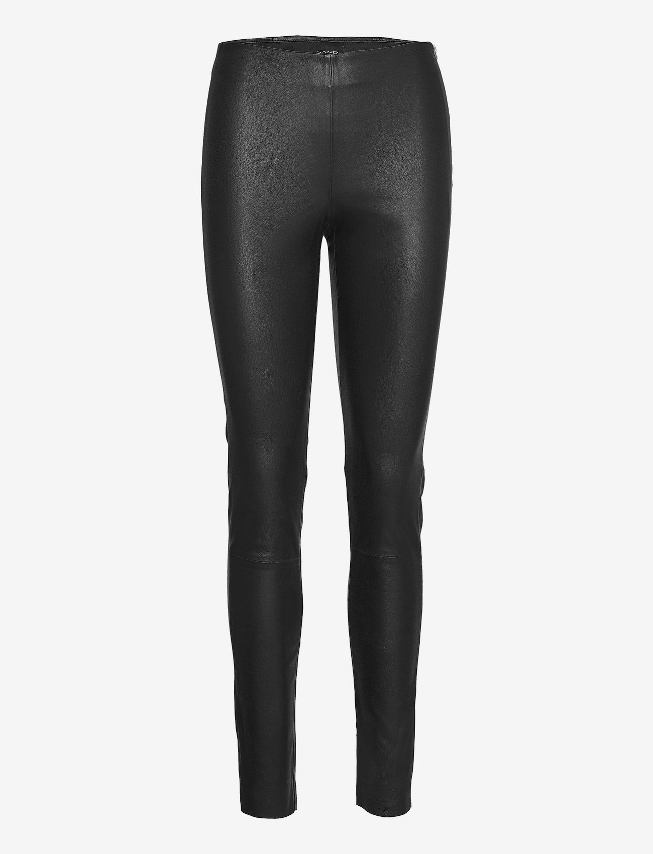SAND - Stretch Leather - Shamar - skinnbyxor - black - 0