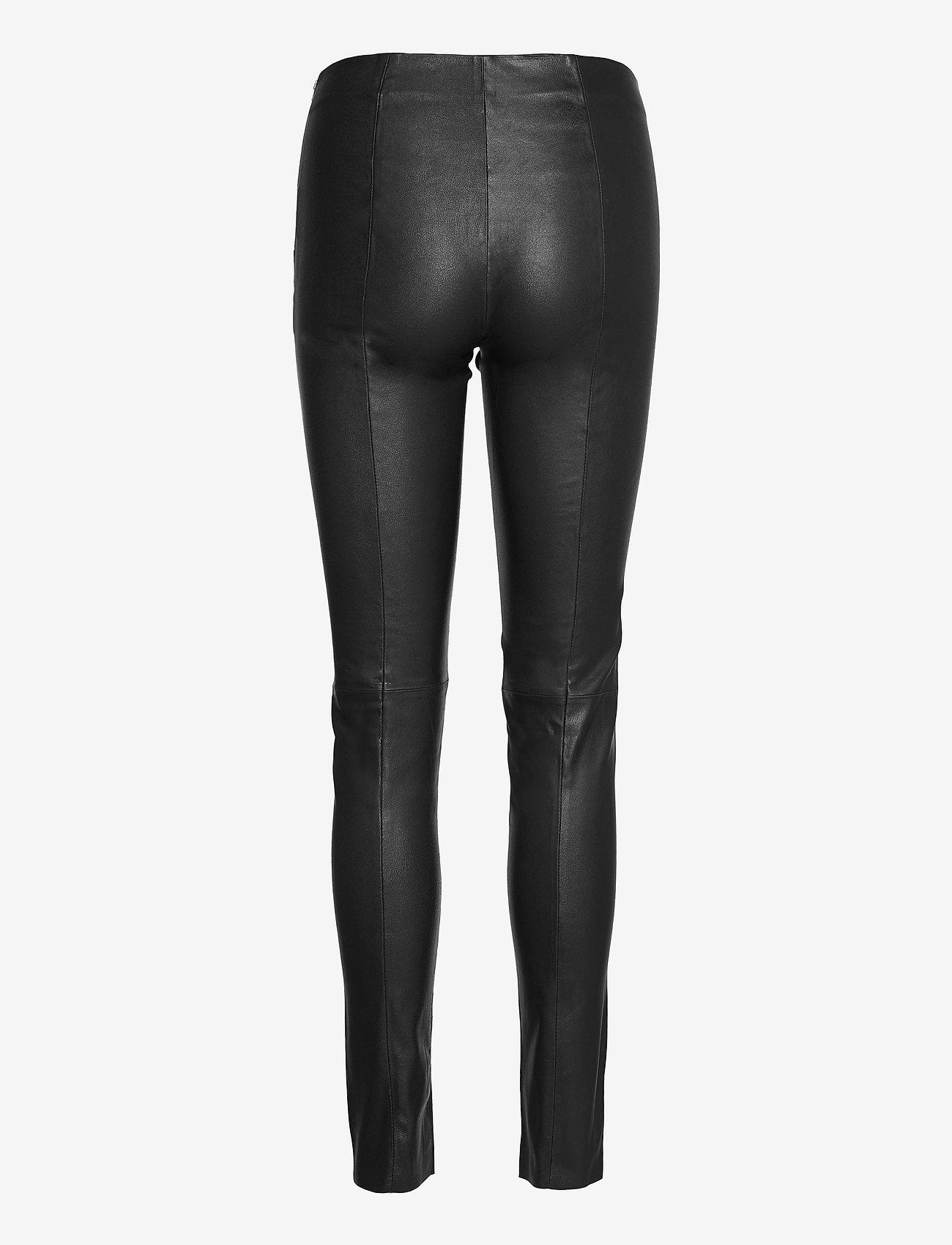 SAND - Stretch Leather - Shamar - skinnbyxor - black - 1