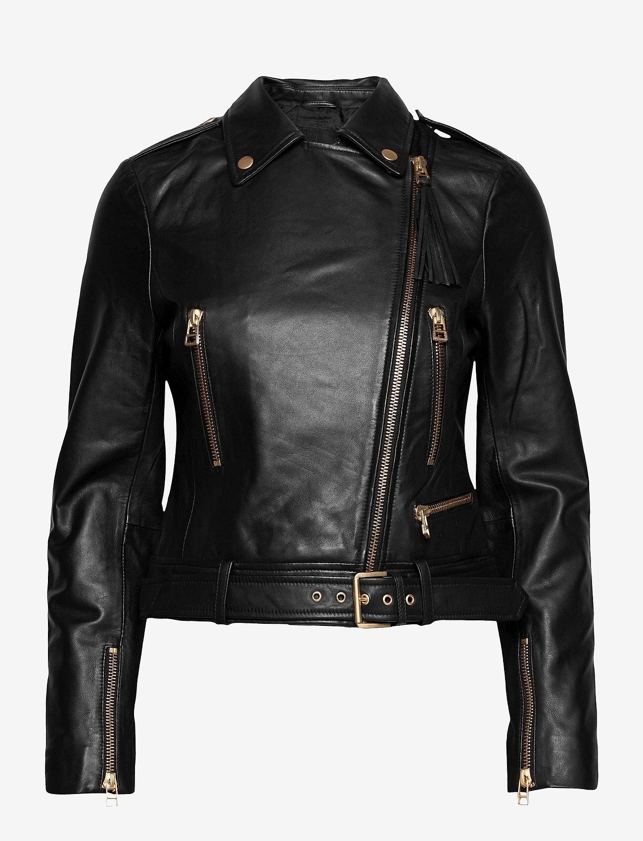 SAND - Soft Lamb Leather - Antille - leren jassen - black - 0