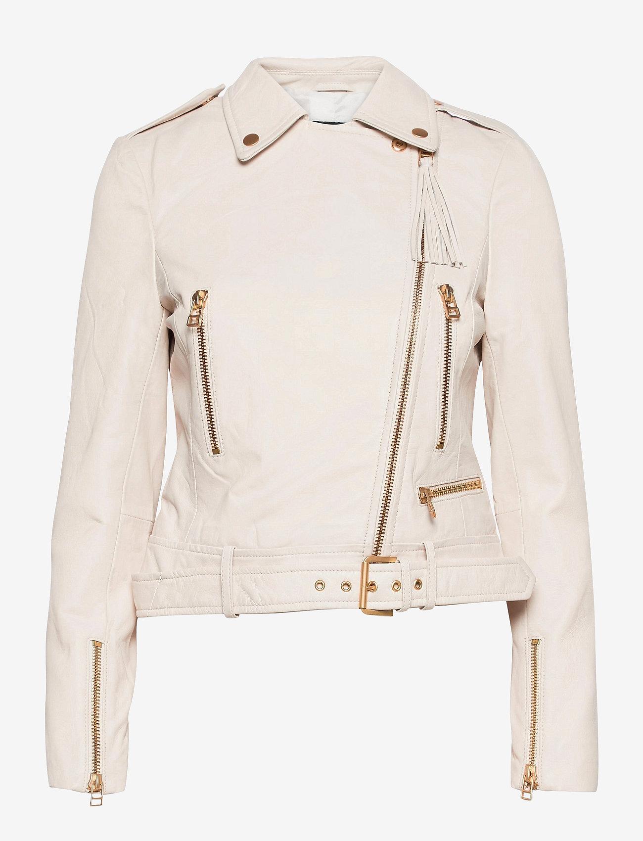 SAND - Soft Lamb Leather - Antille - skinnjackor - off white - 0