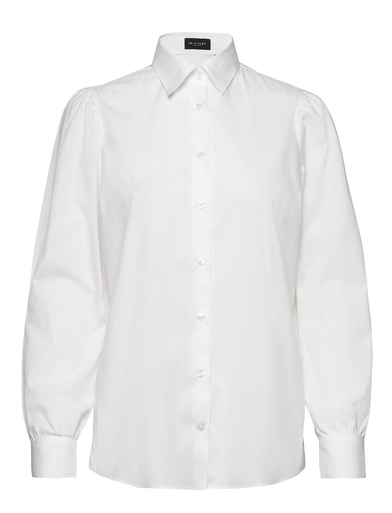 SAND - 8704 - Loreto - overhemden met lange mouwen - optical white - 0