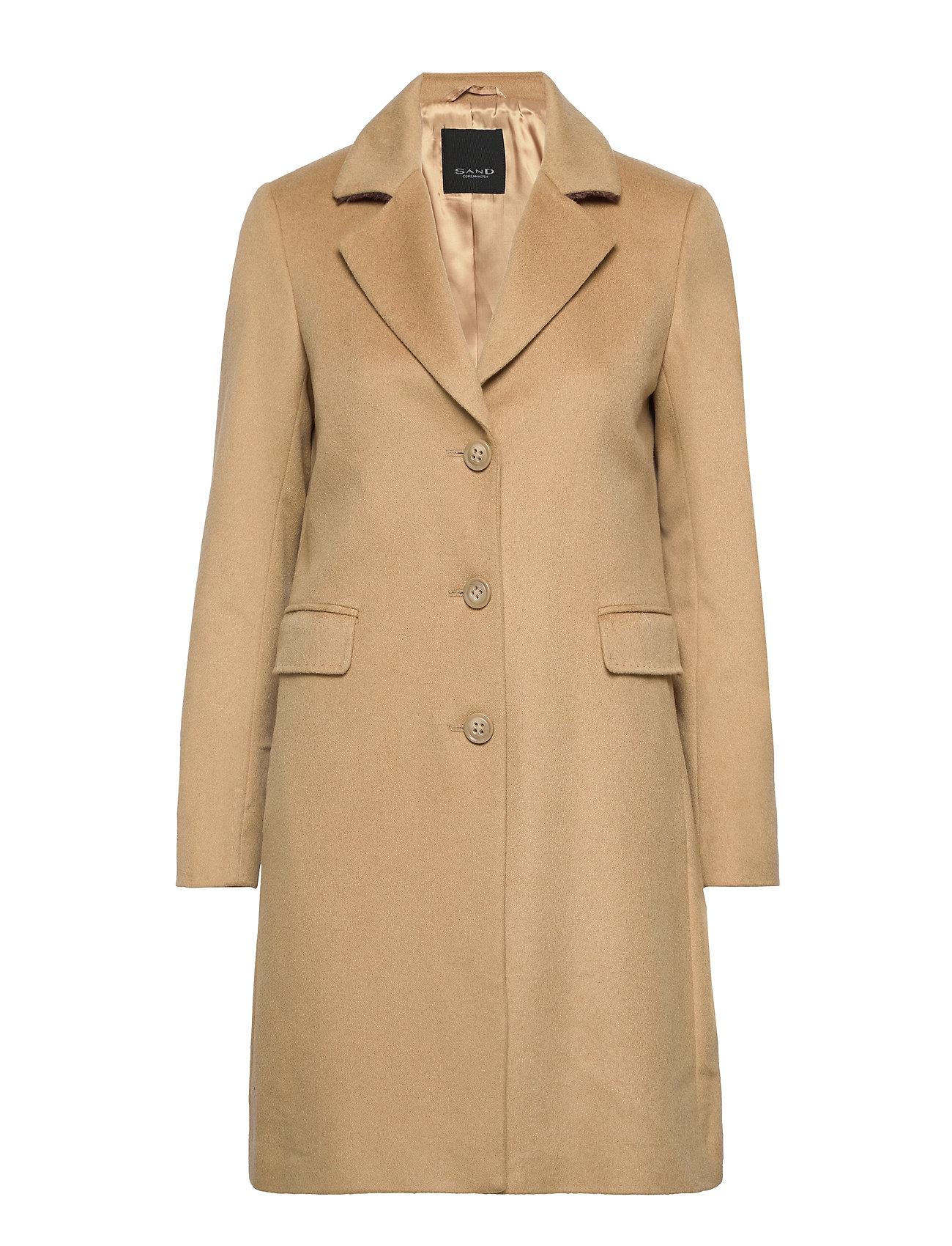 SAND Cashmere Coat WW - Britni 2 - LIGHT CAMEL