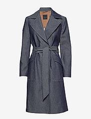 SAND - 3395 - Adda - trenchcoats - medium blue - 0