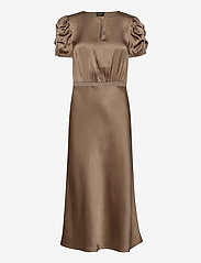 SAND - Double Silk - Berenice Dress - robes midi - light camel - 0