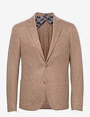 SAND - Flannel Jersey - Star Easy PP Norma - single breasted blazers - light camel - 0