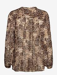 SAND - 3411 - Cecil - blouses met lange mouwen - light camel - 1