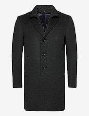 SAND - Cashmere Coat - Sultan Tech - ullrockar - charcoal - 0