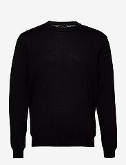SAND - Merino Embroidery - Iq - basic strik - black - 0