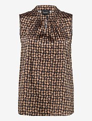 SAND - 3174 Satin - Prosi Top - blouses zonder mouwen - pattern - 0