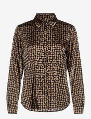 SAND - 3174 Satin - Latia - blouses met lange mouwen - pattern - 0