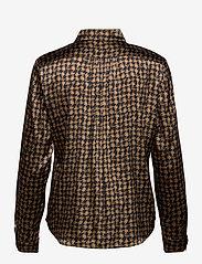 SAND - 3174 Satin - Latia - blouses met lange mouwen - pattern - 1