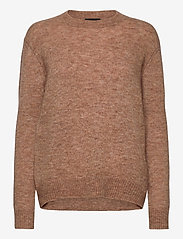 SAND - 5066 - Marta Round Neck - jumpers - camel - 0