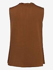 SAND - Satin Stretch - Raya F - blouses zonder mouwen - copper - 1