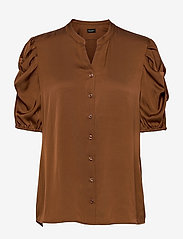 SAND - Satin Stretch - Naolin - blouses met korte mouwen - copper - 0