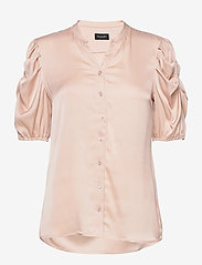 SAND - Satin Stretch - Naolin - short-sleeved blouses - nude - 0