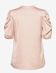 SAND - Satin Stretch - Naolin - short-sleeved blouses - nude - 1
