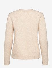 SAND - 5210 - Marta Round Neck - trøjer - beige - 1