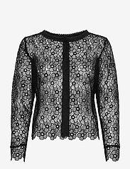 SAND - 3177 - Valentine - long sleeved blouses - black - 0