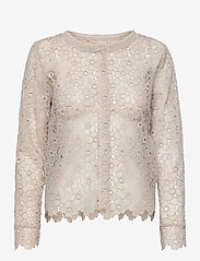 SAND - 3177 - Valentine - long sleeved blouses - off white - 0