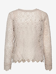 SAND - 3177 - Valentine - long sleeved blouses - off white - 1