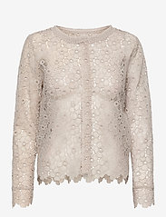 SAND - 3177 - Valentine - long sleeved blouses - off white - 3