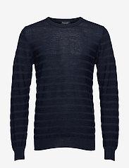 SAND - Merino Stripe - Iq - stickade basplagg - dark blue/navy - 0