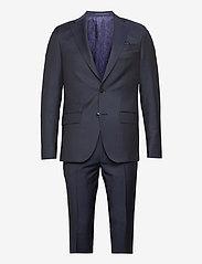 SAND - Prunella Mohair - Star Napoli-Craig - kostuums met enkele rij knopen - medium blue - 0